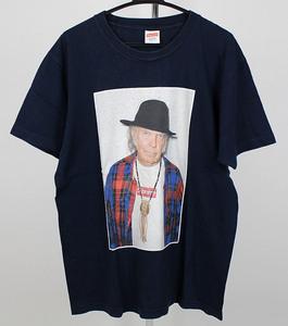シュプリーム SUPREME フォトT プリント Tシャツ ネイビー 中古 ブランド フォトT サイズL z0118