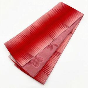 ☆新品☆卒業袴・浴衣・着物 赤系ぼかし入り半巾帯 44