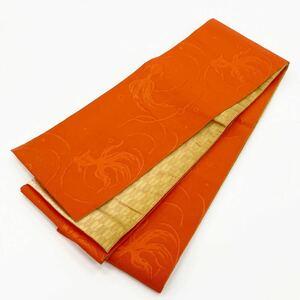 ☆新品☆卒業袴・浴衣・着物 オレンジ系金魚模様半巾帯 119