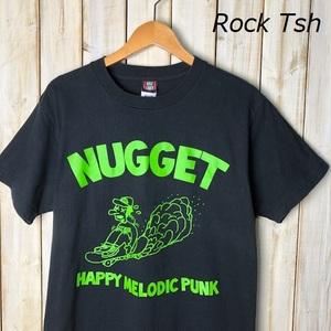 バンドT・ロックT NUGGET Tシャツ M メロディックパンク メロコア PUNK 黒 ナゲット ブラック オールド ●43