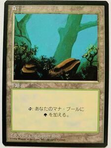 4ED 森 B絵柄 日本語限定黒枠1枚 第4版 FBB 基本土地 基本地形 人気絵柄 希少 複数可
