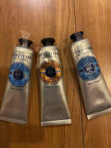 新品未開封L''OCCITANE ロクシタンハンドクリーム シア 2本とフットクリーム1本30ミリ