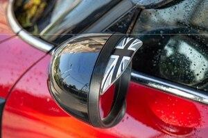 BMW Mini Cooper side mirror for rain guard black Union Jack