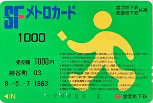 ☆メトロカード 営団地下鉄都営 SF (使用済)