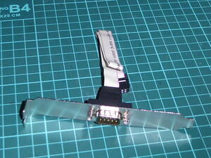 RS232C 9pin シリアルポート外付け 延長 コネクタ 背面ブラケット付き 組み立て マザーボード 200627101