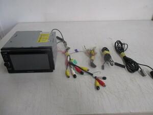 ジャンク品★KENWOOD/ケンウッド 2012年製ワンセグチューナー内蔵2DINメモリーナビ★MDV-323★6.1型★CD/DVD再生 USB AUX★即納