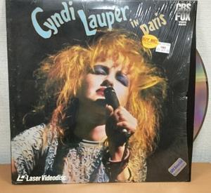 【YC219】輸入盤レーザーディスク/Cyndi Lauper in Paris/LD/シンディー・ローパー