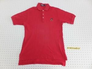 〈送料280円〉Polo by Ralph Lauren ラルフローレン メンズ ゴルフ ワンポイント刺繍 半袖ポロシャツ M 赤