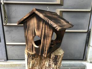 小鳥 野鳥 餌台 エサ台 ガーデニング アンティーク 焼入