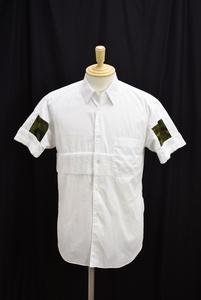コムデギャルソンシャツ COMME des GARCONS SHIRT シャツ XS ホワイト 半袖 コットン フランス製 S19023 パイル カモフラ柄 → 2007WR105