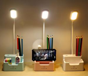 LED多機能タッチ式デスクライト 卓上 照明 ペンホルダー スマホスタンド 角度調整可能 USBポート USB充電 USBケーブル付 選べる3色 238