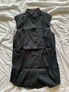 PRADAプラダスポーツ 袖なしシャツ 40 黒  ベスト 長期保管品 黒