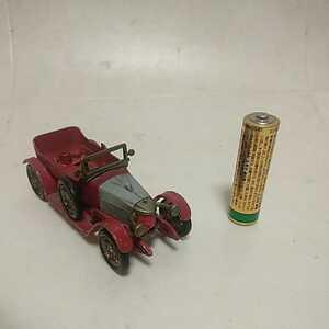 レズニー LESNEY ミニカー マッチボックス MODELS OF YESTERYEAR 1914 PRINCE HENRY VAUXHALL イングランド製 欠品 ジャンク 未チェック