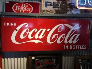 【アメリカ ヴィンテージ】Coca Cola コカ・コーラ ラウンド角看板 当時物