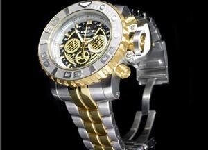 定価2295$ インビクタ 22131 シーハンター メンズ腕時計 INVICTA 海外逆輸入限定品 金 ゴールド ウォッチ クロノグラフ ホワイトブルー