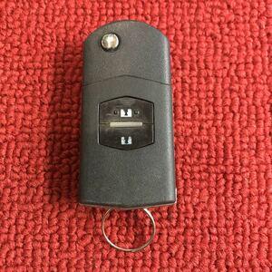 マツダ 純正 キーレス ジャックナイフキー 2ボタン 作動確認済み デミオから取り外し JJ455