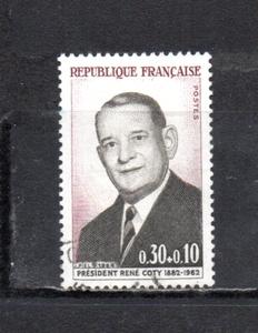 207214 フランス 1964年 ルネ・コティ元大統領追悼 使用済