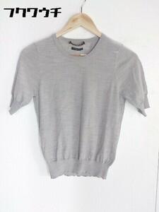◇ Demi-Luxe BEAMS デミルクス ビームス ウール 半袖 ニット セーター グレー レディース