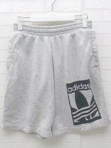 ◇ adidas アディダス スウェット トレフォイル 三つ葉 ハーフ ショート パンツ サイズM グレー メンズ