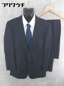 ◇ Louis Feraud ルイフェロー 総裏地 シングル2B ネーム刺繍有り パンツ スーツ 上下 サイズ94A6 ネイビー メンズ