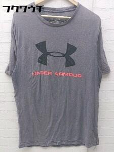 ◇ UNDER ARMOUR アンダーアーマー 半袖 Tシャツ カットソー サイズM グレー ブラック ピンク メンズ