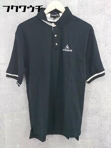 ◇ ◎ le coq sportif ルコックスポルティフ 半袖 ポロシャツ サイズM ブラック ホワイト メンズ