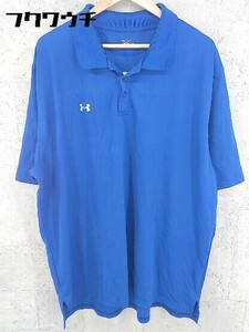 ◇ UNDER ARMOUR アンダーアーマー heatgear 半袖 ポロシャツ サイズ160 ブルー メンズ