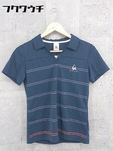 ◇ le coq sportif ルコックスポルティフ 半袖 ポロシャツ サイズM ネイビー レディース