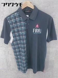 ◇ le coq sportif ルコックスポルティフ 半袖 ポロシャツ サイズM ネイビー ブルー ホワイト メンズ