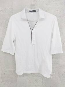 ◇ NICOLE ニコル 半袖 ポロシャツ 46 ホワイト メンズ