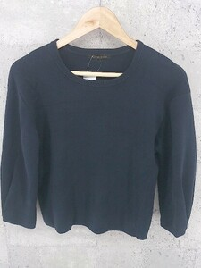 ◇ BARNYARDSTORM バンヤードストーム コットン100% ニット 長袖 セーター 1 ネイビー レディース