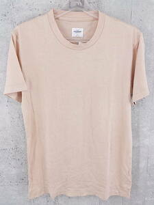 ◇ STUDIOUS ステュディオス ニット 半袖 Tシャツ カットソー 01 ピンクベージュ メンズ