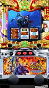 Actual machine Excite Sengoku Pachislot flower Keiji-War on Heaven-Coin unnecessary machine