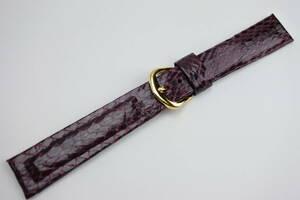 ☆職人手造 蛇革腕時計ベルト 約17mm用 SEIKO 尾錠 高級お洒落品 ③