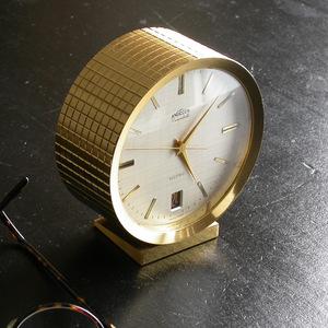 ANGELUS bracket clock 7 stone φ10cm machine (SELF WINDING)1970 period Anne jelas Switzerland SWISS MADE Date display Descodate