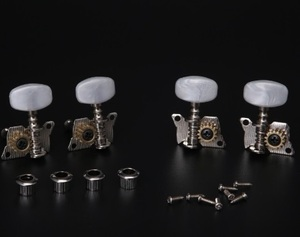 ウクレレ用ペグ 2×2配列 高級 高精度 ストリングチューナー チューニングペグ 調弦 カスタム 修理 交換パーツ