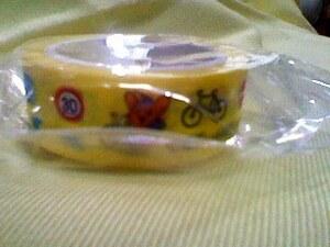 ピーポくん マスキングテープ 新品 マステ 非売品 激レア 警察のイベントで頂いた品物 警視庁 バイク lovely bike けいしちょう 黄色