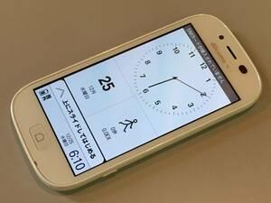 【中古 良品】docomo 富士通 らくらくスマートフォン3 F-06F ホワイト 利用制限〇 本体のみ