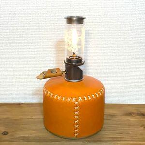 【最高級】栃木レザー 本革ガス缶カバー OD缶カバー  スノーピーク ルミエール