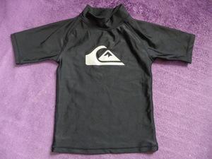 クイックシルバー QUIKSILVER ラッシュガード半袖 120 黒