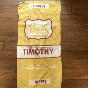 50年代 ヴィンテージ シードサック 3 MADE IN USA アメリカ製 リネン 麻袋 ガーデニング ランドリーバッグ 種袋 コーヒー袋