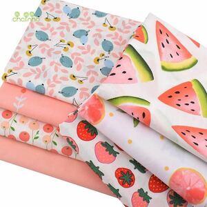 送料無料 ハンドメイド 花柄 生地 7枚セット 40×50 綿 はぎれ ハギレ お買い得 パッチワーク 裁縫 カットクロス レトロ果物フルーツ