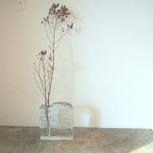 希少 西ドイツ ヴィンテージingrid Glas大振りクリスタル ハンドメイド花瓶 花器ミッドセンチュリー小物 店舗什器フラワーベース陶器アート