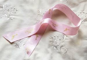 ★ラデュレ リボン ピンク 太幅2.6cm 長さ45.5cm