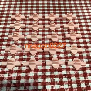 used 「 LaQ ラキュー ジョイント パーツ ピンク色 No.7 20個 」 / 90°角度2箇所付き / 20ピース/ パズルブロック 知育玩具おすすめ