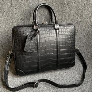 ナイルワニ革 ニロティカス クロコダイル 本革 レザー ショルダーバッグ A4対応 ブリーフケース 通勤出張 ビジネス ハンドバッグ メンズ 鞄