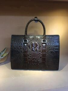クロコダイル ワニ革 レザー本革 背部 トート メンズバッグ A4/PC対応 ブリーフケース ビジネス 鞄 旅行通勤出張 男性用 ハンドバッグ
