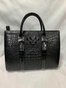 クロコダイル ワニ革 レザー 本革 大容量 トート メンズバッグ A4/PC対応 ブリーフケース ビジネス 鞄 旅行通勤出張 男性用 ハンドバッグ