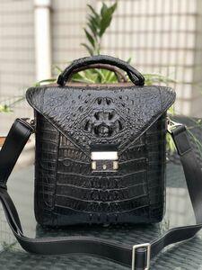 クロコダイル レザー ワニ革保証 背部革 本革 メンズバッグ 大容量 2way 斜め掛け トート ショルダーバッグ 手提げ 通勤 鞄 ハンドバッグ