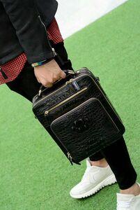 クロコダイル レザー ワニ革保証 背部革 本革 メンズ トートバッグ 大容量 2way 斜め掛け ショルダーバッグ 手提げ 通勤 ハンドバッグ 鞄